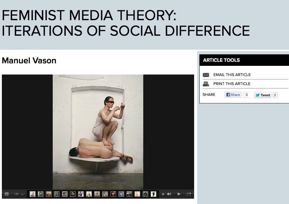 Feminist Media Theory- Iterations of Social Difference
