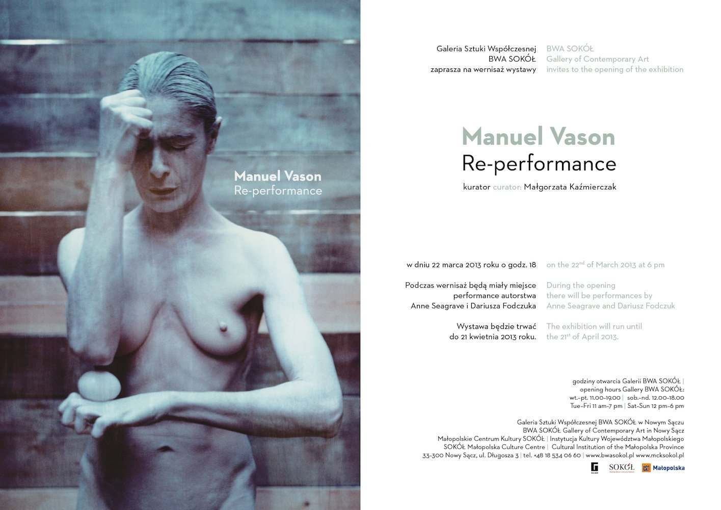 'Re-Performance. Between Performance and Photography', solo show